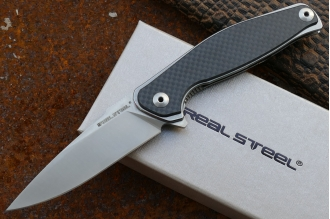 "Нож складной ""Sea Eagle"" E771 (black G-10, stonewashed) Real Steel, КНР"