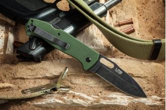 Нож складной Ute (440C, StoneWash, Green) Kizlyar Supreme, Россия