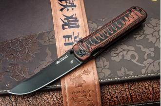Нож складной Whisper (D2, B-Titanium) Kizlyar Supreme, Россия