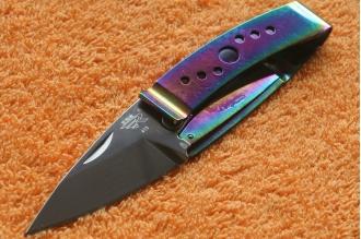 Нож складной Money Clip 613 LUE-SX SanRenMu