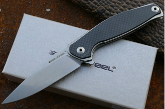 "Нож складной ""Sea Eagle"" E771 (carbon fiber, stonewashed) Real Steel"