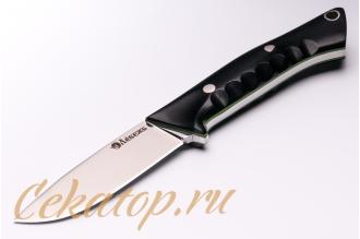 Нож «Соколиный Глаз» (сталь N690, черный G-10) Лебежь, Россия