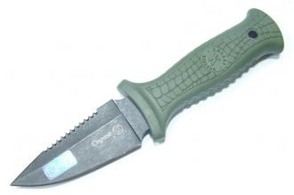 Нож Страж (Stonewash, зелёный Elastron) Кизляр