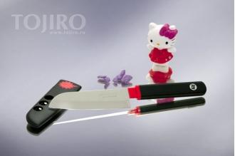 Special Series FK-405 Нож для чистки овощей и фруктов в ножнах (чёрный)