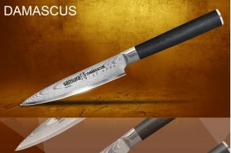 Универсальный нож Damascus Samura SD-0021/G-10
