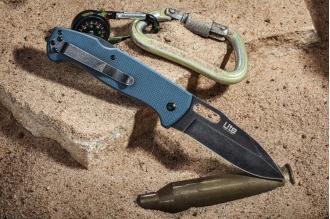 Нож складной Ute (440C, StoneWash, Gray) Kizlyar Supreme