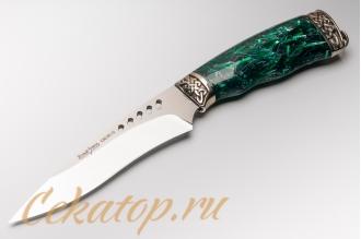 """Нож """"Ведьма"""" Нсм47 (сталь K340, зеленый акрил) Ясный Сокол"""