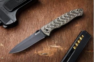 Нож Vega (440C, Black) Kizlyar Supreme