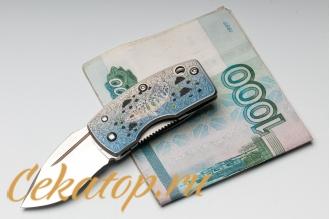 Нож-зажим для денег «Carp Koi» G.Sakai с клинком