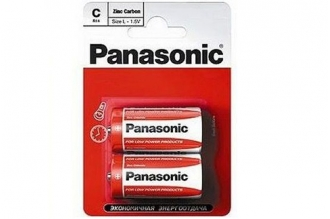 Батарейка тип C Zinc Carbon R14RZ/2BP R14 Panasonic