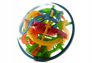 Головоломка шар-лабиринт 13 см 100 шагов