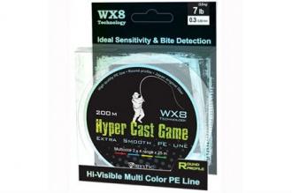 Многоцветный шнур PE Hyper Cast Game (0,13 мм)