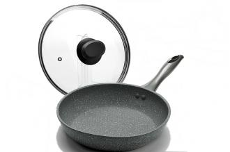 Сковорода 260 мм (мраморная крошка, серая) 23572 Mayer & Boch