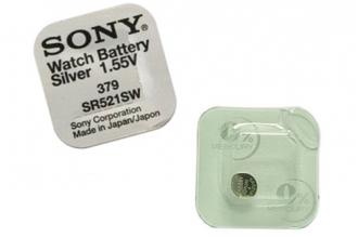 Батарейка серебряно-цинковая часовая SR521SW 379, Sony