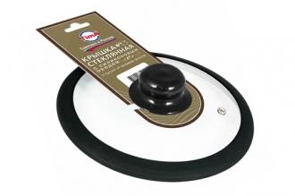 Стеклянная крышка 26 см с черным силиконовым ободом