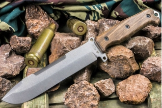 Нож Survivalist X (AUS-8, Walnut) Kizlyar Supreme