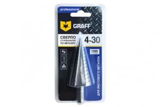 Ступенчатое сверло по металлу (4-30 мм) Graff