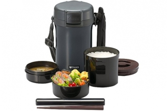 Термос для еды с контейнерами LWU-A201 Charcoal Gray 1,41 л Tiger