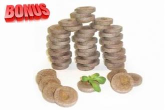 Торфяные таблетки Jiffy-7 диаметр 22 мм в количестве 50 штук
