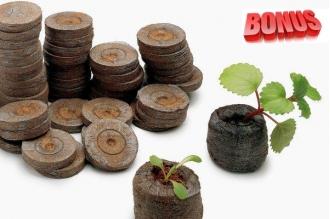 Торфяные таблетки Jiffy-7 диаметр 22 мм в количестве 200 штук