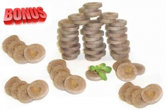 Торфяные таблетки Jiffy-7 диаметр 29 мм в количестве 200 штук