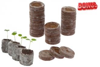 Бонус-пак: торфяные таблетки Jiffy-7 37 мм в количестве 100 шт. по спец. цене!