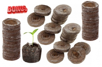Бонус-пак: торфяные таблетки Jiffy-7 37 мм в количестве 200 шт. по спец. цене!