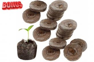 Торфяные таблетки Jiffy-7 диаметр 44 мм в количестве 100 штук