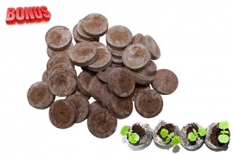 Торфяные таблетки Jiffy-7 диаметр 44 мм в количестве 200 штук