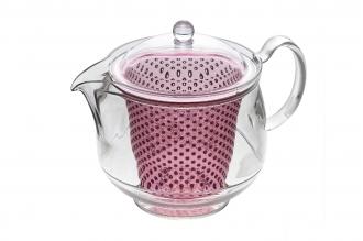 Чайник заварочный ударопрочный 0.73 л (pink) Akebono, Япония