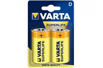 Батарейка тип D Superlife 2020 R20 (2 шт.), Varta