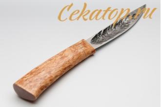 """Нож """"Якутский малый"""" (кованый дол, карельская береза) Игорь Шилин"""