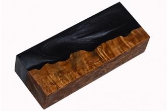 Заготовка для рукояти (черный перламутр / карельская береза)