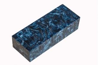 Заготовка для рукояти из акрилового композита (серо-синий перламутр)