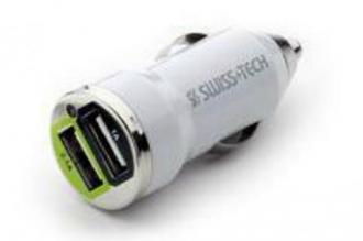 Автомобильное USB зарядное устройство Dual Port 12V (5В, 1А и 2,1A) Swiss+Tech