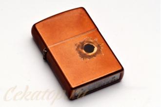 """Зажигалка Zippo 24717 """"Toffee Bullet Hole"""", США"""