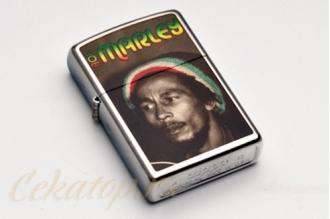 "Зажигалка Zippo 28488 ""Bob Marley Reggae, Street Chrome"", США"