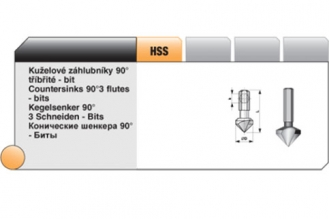 Конический зенкер Bucovice Tools, Чехия, 10,4 мм