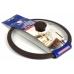 Стеклянная крышка 22 см с коричневым силиконовым ободом TimA в упаковке