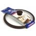 Стеклянная крышка 26 см с коричневым силиконовым ободом и ручкой TimA