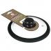 Стеклянная крышка с силиконовым черным ободом 24 см Россия