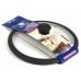 Крышка стеклянная 22 см с черным силиконовым ободом в упаковке