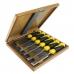 Набор плоских ударных стамесок из 6 штук (6, 10, 12, 16, 20, 26 мм) SUPER 2009 N