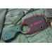 Шейный нож Amigo X (D2, Titanium, Green G-10) Kizlyar Supreme