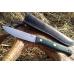 Нож Росомаха D2 (тёмно-зеленая микарта с оружейной насечкой) Южный Крест, Россия