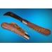 Нож садовый складной с кривым лезвием