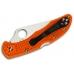 Складной нож Delica 4 Lightweights (VG-10, Orange FRN) Spyderco, сложен